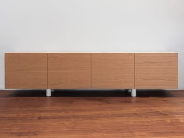 Wooden sideboard with doors PEDRA | Sideboard