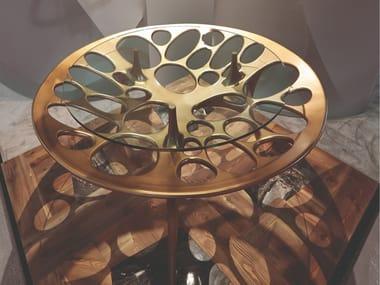 Round crystal table PEGASO