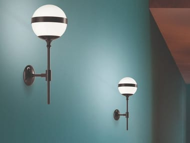 Blown glass and metal wall light PEGGY AP