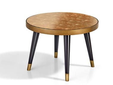 Round mirrored glass side table PEGGY | Coffee table