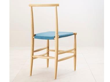 Cadeira de madeira maciça PELLEOSSA | Cadeira