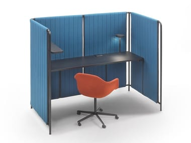 Contemporary style fabric office booth PENDRILLON | Office booth