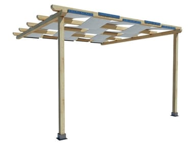 Wall-mounted fir pergola PENELOPE | Wall-mounted pergola