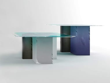 Glass living room table PENTAGON