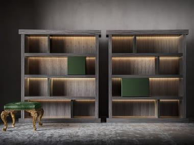Libreria in legno con illuminazione PENTAGRAMMA