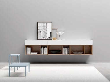 Suspended sideboard with drawers PEOPLE P403