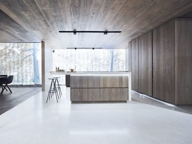 Fitted kitchen with island PEPPER