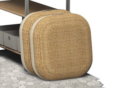 Square fabric floor cushion PERCH