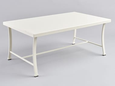Table basse de jardin rectangulaire en fer forgé PERENNIAL   Table basse rectangulaire
