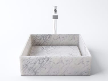 Countertop Carrara marble washbasin PERMANO | Carrara marble washbasin