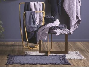 Tappeto per bagno a tinta unita in spugna di cotone PETALI | Tappeto per bagno