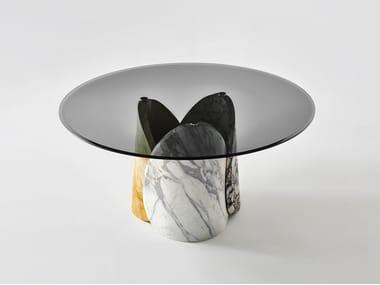 Tavolo rotondo in marmo PETALO | Tavolo rotondo