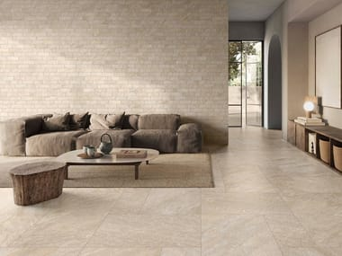 Porcelain stoneware wall/floor tiles with stone effect PETRA