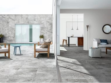 Porcelain stoneware wall/floor tiles with stone effect PETRAE