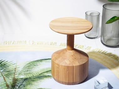Banqueta baixa PEZZO | Banqueta de madeira maciça