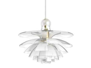 Glass pendant lamp PH SEPTIMA