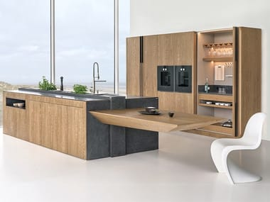 Ergonomic kitchen with island PHANTOM