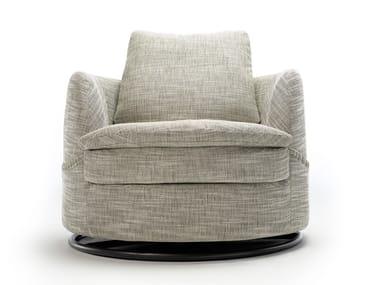 Swivel upholstered armchair PHARAOH