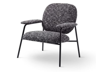Fabric easy chair with armrests PHILO | Easy chair