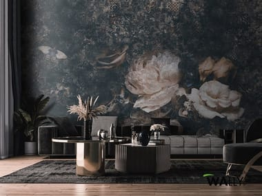 Washable wallpaper with floral pattern PHOEBE