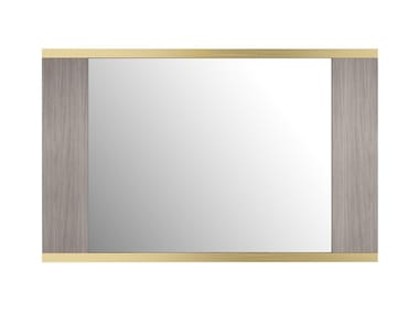 Framed wall-mounted wood veneer mirror PHOENIX II