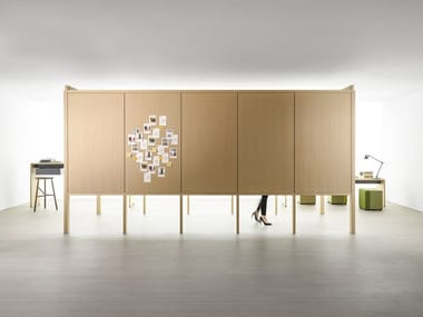 Sound absorbing modular office screen PHONEWALK