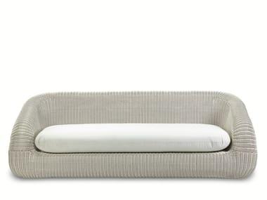 3 seater Ethimo EtWick® garden sofa PHORMA | Garden sofa