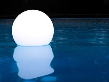 LED solar powered Floor lamp PHOTOVOLTAIC SPHERES