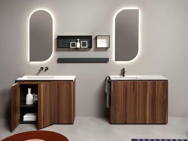 Mobile lavabo da terra con ante PIANA | Mobile lavabo da terra