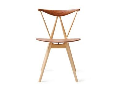 Wooden restaurant chair PIANO CHAIR (1955)