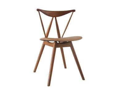 Wooden restaurant chair PIANO CHAIR SOFT (1955)