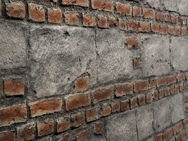 Indoor/outdoor glass-fibre 3D Wall Panel with brick effect PICADA VINTAGE