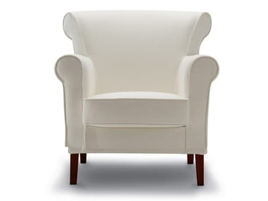 Fabric armchair with armrests PICCADILLY