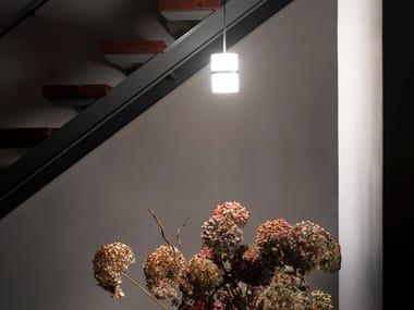 Lampada a sospensione a LED in vetro soffiato PICCOLA BOA   Lampada a sospensione