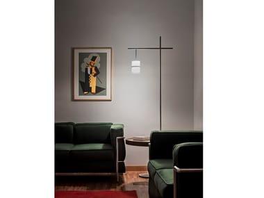 Lampada da terra a LED in alluminio PICCOLA BOA   Lampada da terra