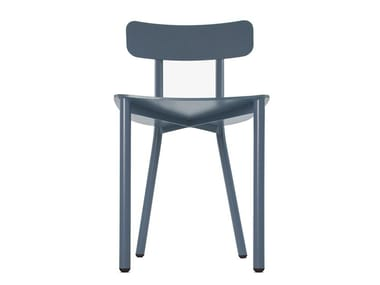 Open back aluminium chair PICTO