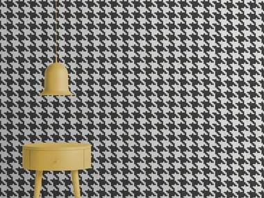 Carta da parati effetto muro optical in carta non tessuta PIED DE POULE