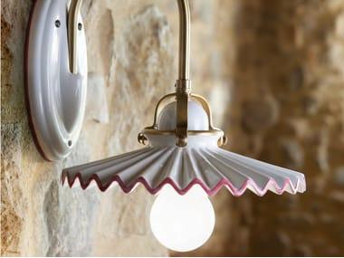 Lampada da parete in ceramica con braccio fisso PIEGA | Lampada da parete