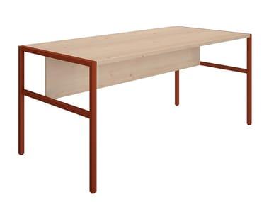 Rectangular wooden workstation desk PIEM | Workstation desk