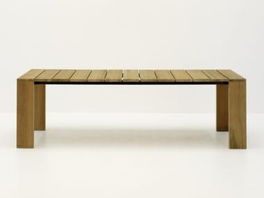 Rechteckiger Gartentisch aus Teakholz PIER | Rechteckiger Tisch