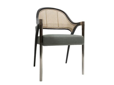 Upholstered chair with armrests PIERRE | Chair