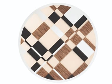 Round wooden living room table PIET