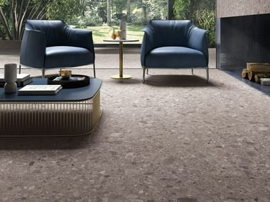Indoor/outdoor porcelain stoneware flooring with stone effect PIETRA D'ISEO