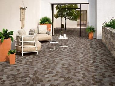 Pavimento/rivestimento in gres porcellanato effetto pietra PIETRA DI CEMBRA