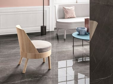 Porcelain stoneware wall/floor tiles with marble effect PIETRA GREY