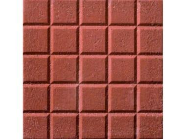 Pavimenti per esterni PIETRINO   Rosso  25 bugne