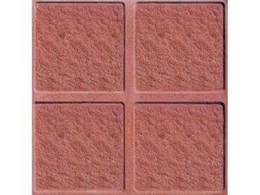Pavimenti per esterni PIETRINO  Rosso 4 bugne