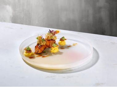 Crystal dinner plate PIGMENTO 35cm