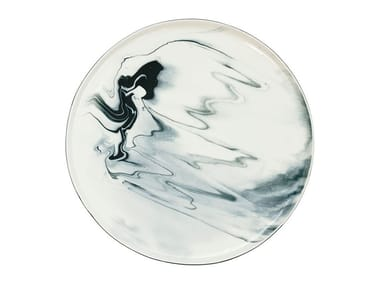 Porcelain dinner plate PIGMENTS & PORCELAIN | Plate