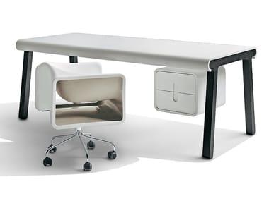 Oak table / writing desk PIGRECO